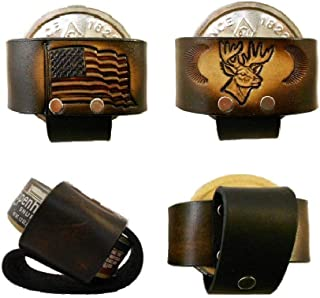 Leather Snuff Can Holder, Holster, Chewing Tobacco Case, Handcrafted, Many Tooled Designs