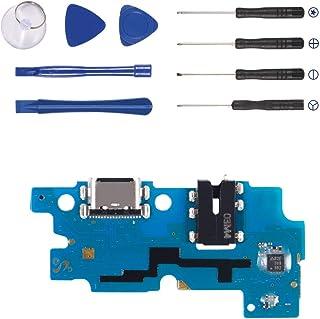 استبدال كابل منفذ الشحن المرن متوافق مع سامسونج جالاكسي A20 A205 2019 6.4 بوصة كابل USB نوع C Flex مع أدوات (ل A20)