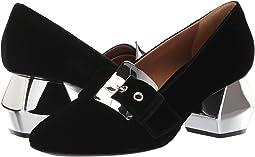 55m Buckle Velvet Heel