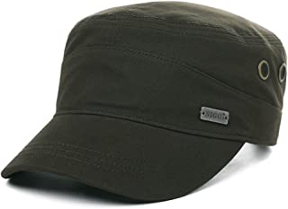 Comhats Mens 100% Cotton Classic Army Caps Military Hats Baseball Cap for Golf Running Cycling Size Adjustable