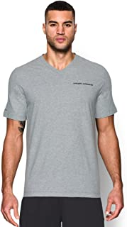Under Armour Mens Ua Charged Cotton Microthread V-Neck Short Sleeve Tee