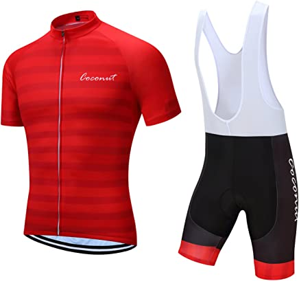 Men/'s Cycling Skinsuit One Piece Padded Bicycle Jersey Short Set Trisuit