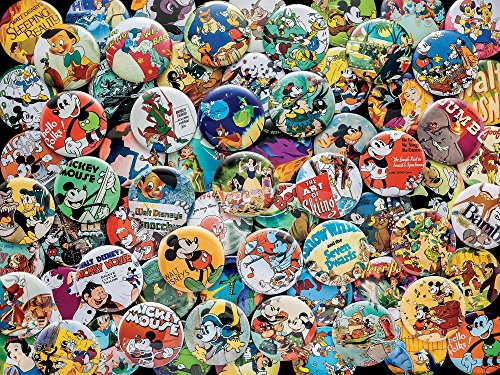 Ceaco Disney Collections Vintage Buttons Jigsaw Puzzle, 750 Pieces Multi-colored, 5'