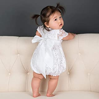 Baby Girls Grace White Christening Romper White Baptism Outfit (Size Newborn only)