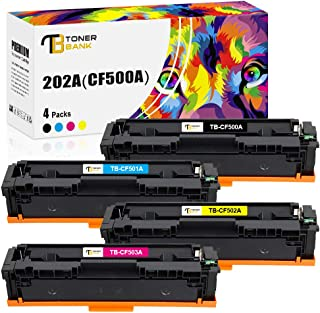 Best Toner Bank Compatible Toner Cartridge Replacement for HP 202A CF500A 202X for HP Color Laserjet Pro MFP M281fdw M281cdw M254dw M281 M254 CF501A CF502A CF503A Toner (Black Cyan Yellow Magenta, 4-Pack) Review