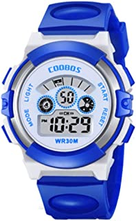 Kids Digital Watch with LED Light Waterproof Outdoor Electronic Wristwatch for Boys & Girls
