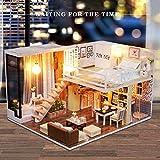 NBEADS Diy Mini House Handgefertigt Montiert Spielzeug Puppenhaus Hütte Villa Miniatur Home Modell,...