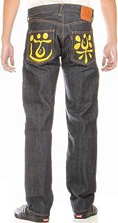 EVISU JEANS 38~42in 裾上げ可 エヴィスジーンズ No2 2000 道楽 ペイントマーク ドウラク エビス レギュラーフィット ストレート レッド ピンク イエロー サックス ブルー