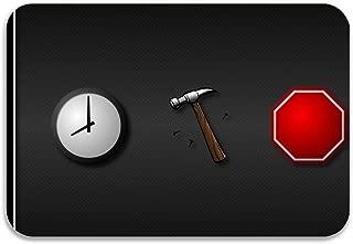 NortonHIC Premium Entry Mat Hammer Stop Sign Clocks Time Songs Music Entrance Mat