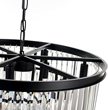 Meelighting 9 Lights Crystal Modern Contemporary Chandeliers Pendant Ceiling Light 4-Tier Chandelier Lighting for Dining Room