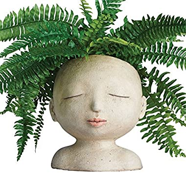 ART & ARTIFACT Head of a Lady Indoor/Outdoor Resin Planter