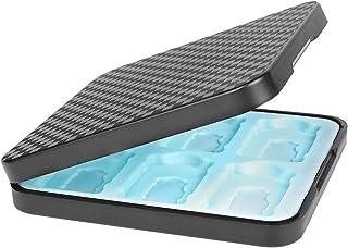 Raspbery Étui de rangement pour cartes de jeu portable anti-chocs 12 emplacements Boîte de rangement en silicone Thème du ...