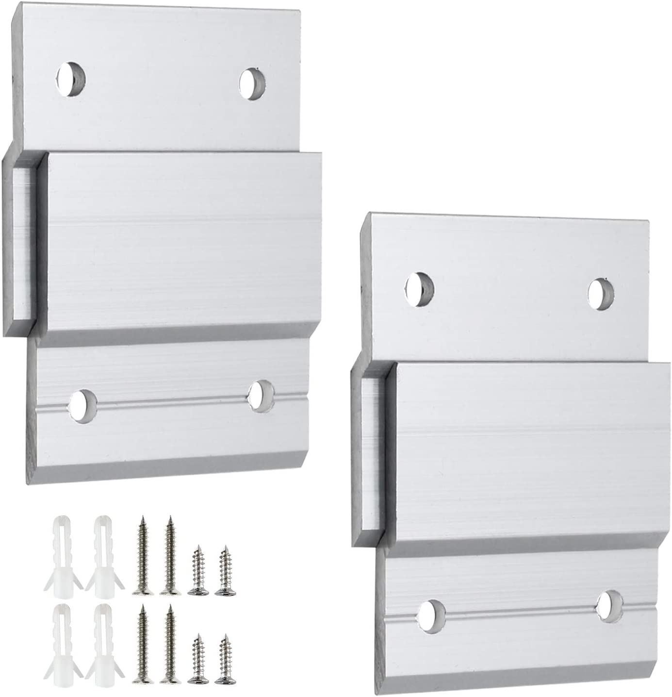 Wall Panels 2 Pairs Aluminum Alloy Interlocking Z Bar Clips Wall Mounting Brackets for Hanging Mirror Picture Artwork Zorfeter 2 Z Hanger French Cleat Picture Hanger Kit