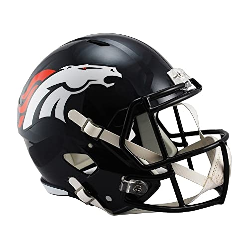 Riddell NFL Denver Broncos Full Size Replica Speed Helmet, Medium, Blue