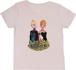 ディズニー アナと雪の女王 アナ エルサ オラフ 半袖Tシャツ ピンク レディース 身丈64cm AWDS3073