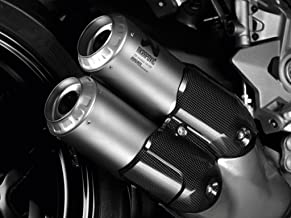 Ducati 2017-2019 Supersport Akropovic Titanium Slip-On Silencer Set 96481201A