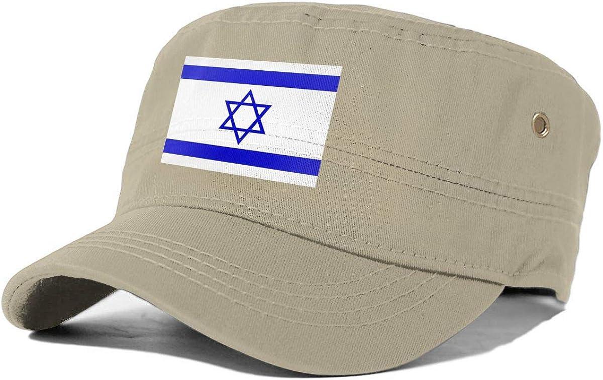 Israel Flag Adult Flat-Top Cap Army Hat Military Flat Top Adjustable Baseball Cap