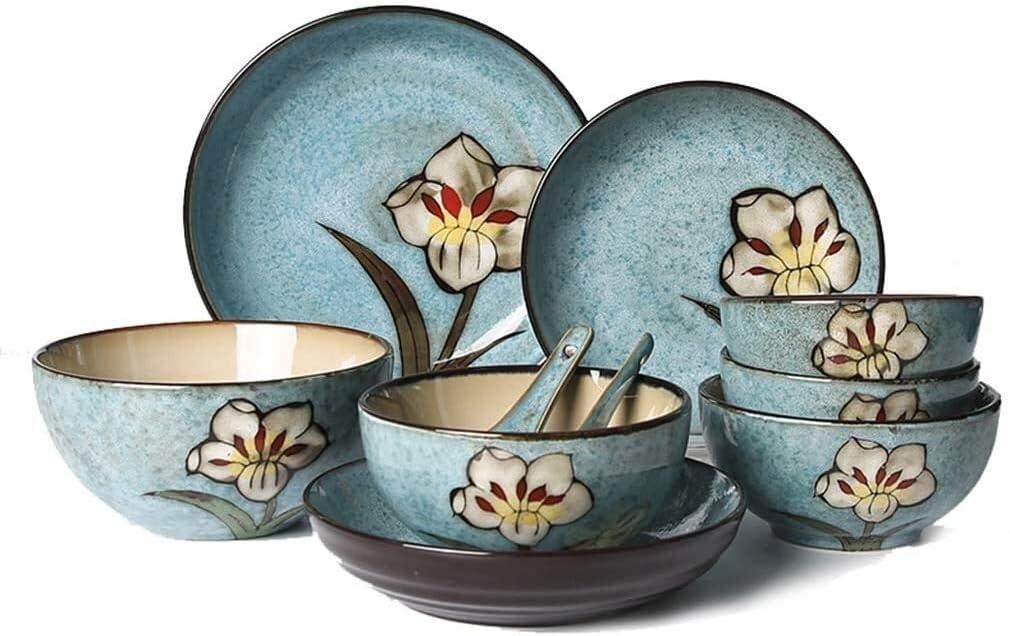 Selling BDBT Dinnerware Sets Dish Set Reactive Luxurious Glaze Dinnerwar Daily bargain sale