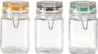 Pfaltzgraff 8 oz Preserving Jar with Wire Clamp Closure, Set of 3, Multi Colored