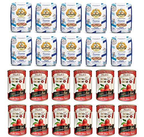 Testpaket Caputo Pizzeria Pizzamehl Mehl ( 10 x 1Kg ) + Italian Gourmet 100{2de3c3c4ba5243a1828368c0895a6cca837e89b9e524ae45fdc33e4f32f6c8fb} italienische geschälte Tomaten dosen ( 12 x 400g )