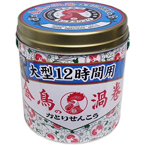 【大日本除虫菊】金鳥の渦巻 大型 12時間用 40巻 (缶) ×10個セット