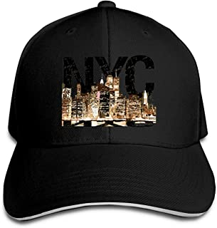 New York Nightscape Adjustable Baseball Caps Unisex Dad Hats Sandwich Caps Black