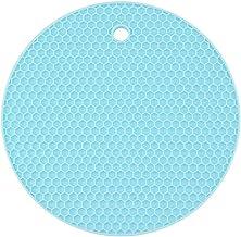 Yardwe Silicone Pot Holders Heat Resistant Non-slip Trivet Mats Hot Pads Multipurpose Trivet For Home Use (Light Blue)