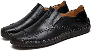 Asifn Men's Casual Loafers Driving Shoes Oxfords Comfortable Stitching Sneaker Penny Classic Moccasins Formal Walking Leather