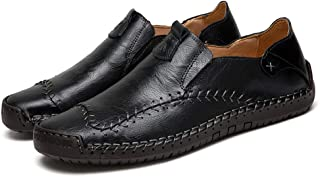 Asifn Mens Casual Driving Penny Loafer Boat Non-Slip Leather Comfortable Slip-On Moccasin Shoes Walking Sneakers