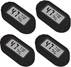 4 Pack Mini Small Digital Electronic Temperature Humidity Meters Gauge Indoor Thermometer Hygrometer LCD Display Fahrenhei...