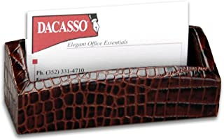 Dacasso Brown Crocodile Embossed Business Card Holder