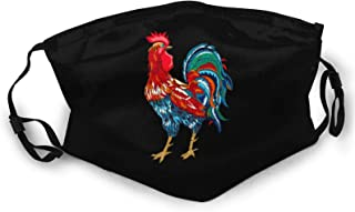 Nixboser Funny Chicken Rooster Stop Staring at My Cock Face Shield Men Women Bandanas Reusable Washable Dust Protection Black