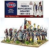 Victrix VX0005 - Französische napoleonische Infanterie 1807-1812 - 60 Figurenbox mit Flaggen - 28mm Plastikminiaturen