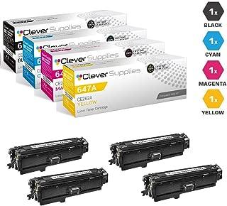 CS Compatible Toner Cartridge Replacement for HP CP4025n CE260A Black CE261A Cyan CE262A Yellow CE263A Magenta HP 647A & HP 648A Color Laserjet CP4000 CP4500 CP4525dn Enterprise CP4025 4 Color Set