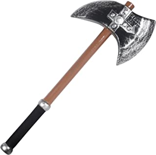 Loftus International Star Power LARP Heavy Foam Barbarian Battle Axe, Black Brown Silver, 23