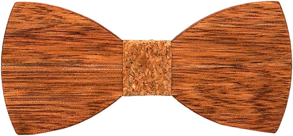 Wood Bow Tie Mens Wooden Bow Ties Party Business Butterfly Cravat Party Ties