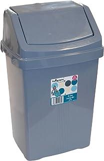 M/ülleimer mit Schwingdeckel robust 8 Liter 22x19 cm grau: Camping Bad WC Abfalleimer Wohnwagen Windeleimer Kosmetikeimer