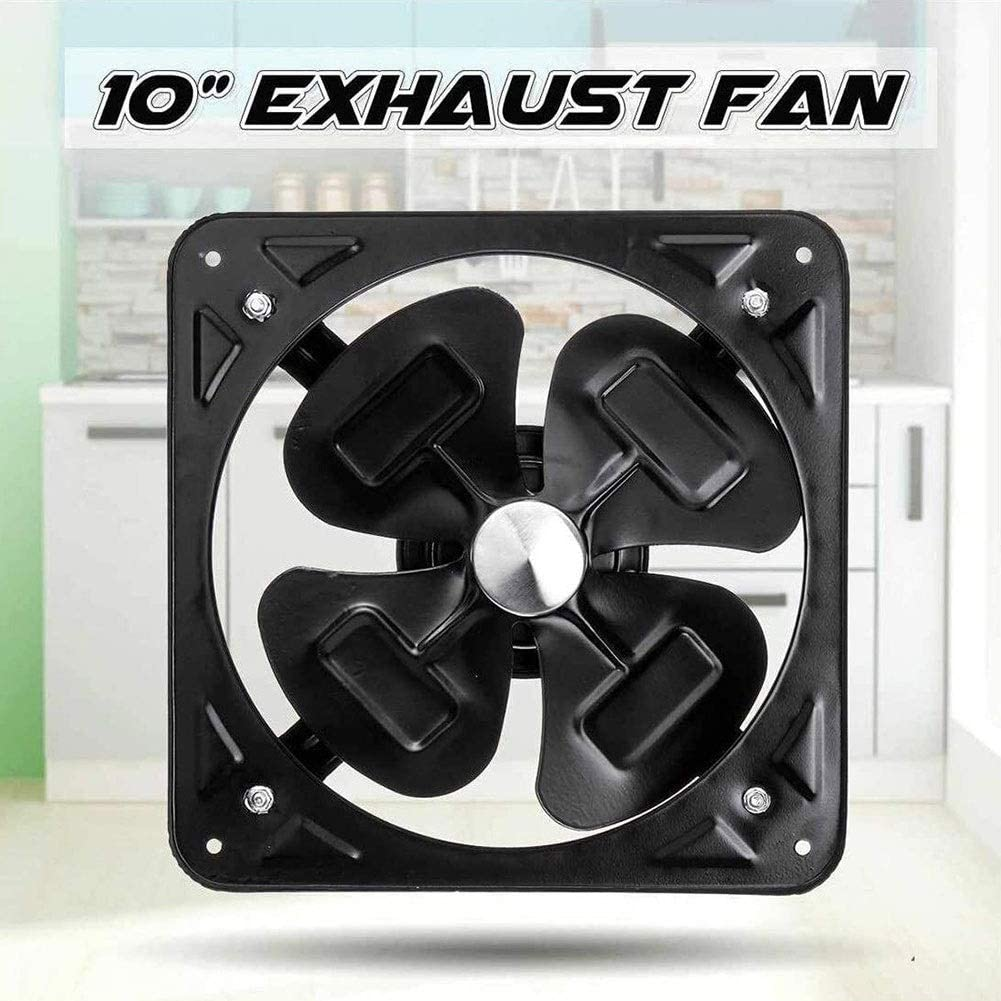 Ventilador De Escape Montado En La Pared Extractor de 250 mm / 10 pulg 900m3 / h 40W de bajo ruido de admisión un tubo de aire del ventilador de refuerzo de ventilación for la cocina Baño extractora