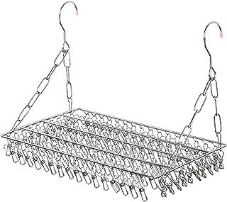 Générique Sawyerda Clips en Acier Inoxydable Chaussettes séchoir Cintre Coupe-Vent pour vêtements Chaussettes sous-vêtemen...