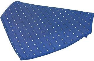 David Van Hagen Mens Polka Dot Tie and Pocket Square Set Fuchsia//White
