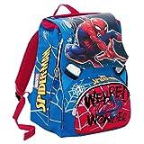 Zaino Scuola Estensibile Marvel ULTIMATE SPIDERMAN WEBBED WONDER- Rosso -28 Lt , Gadget incluso!
