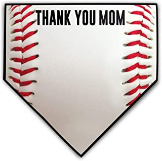 ChalkTalkSPORTS Baseball Stitches Home Plate Plaque | Thank You Message to Mom or Dad | Ready to Autograph