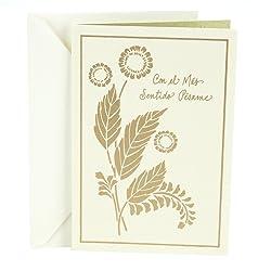 Hallmark Vida Spanish Sympathy Card (Foil Flowers)