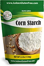 Judee's Gluten Free Corn Starch (2.5 lbs) Non-GMO, Made in USA, Thickener For Sauces, Soup, Gravy, Highest Quality, USP & Food Grade