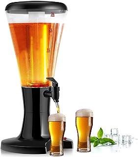 COSTWAY 3L Dispensador de Cerveza Bebidas Columna de Cerveza para Mesa para Fiesta Cena Festival Boda