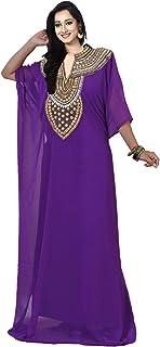 فستان طويل حريمي من KoC فستان طويل من قفطان دبي فاراشا تونيك علوي لمنطقة البطن