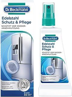 Dr. Beckmann Edelstahl Schutz und Pflege | Reinigt, pflegt und bildet einen effektiven Schutzfilm | Anti-Finger-Print-Effekt 40 ml