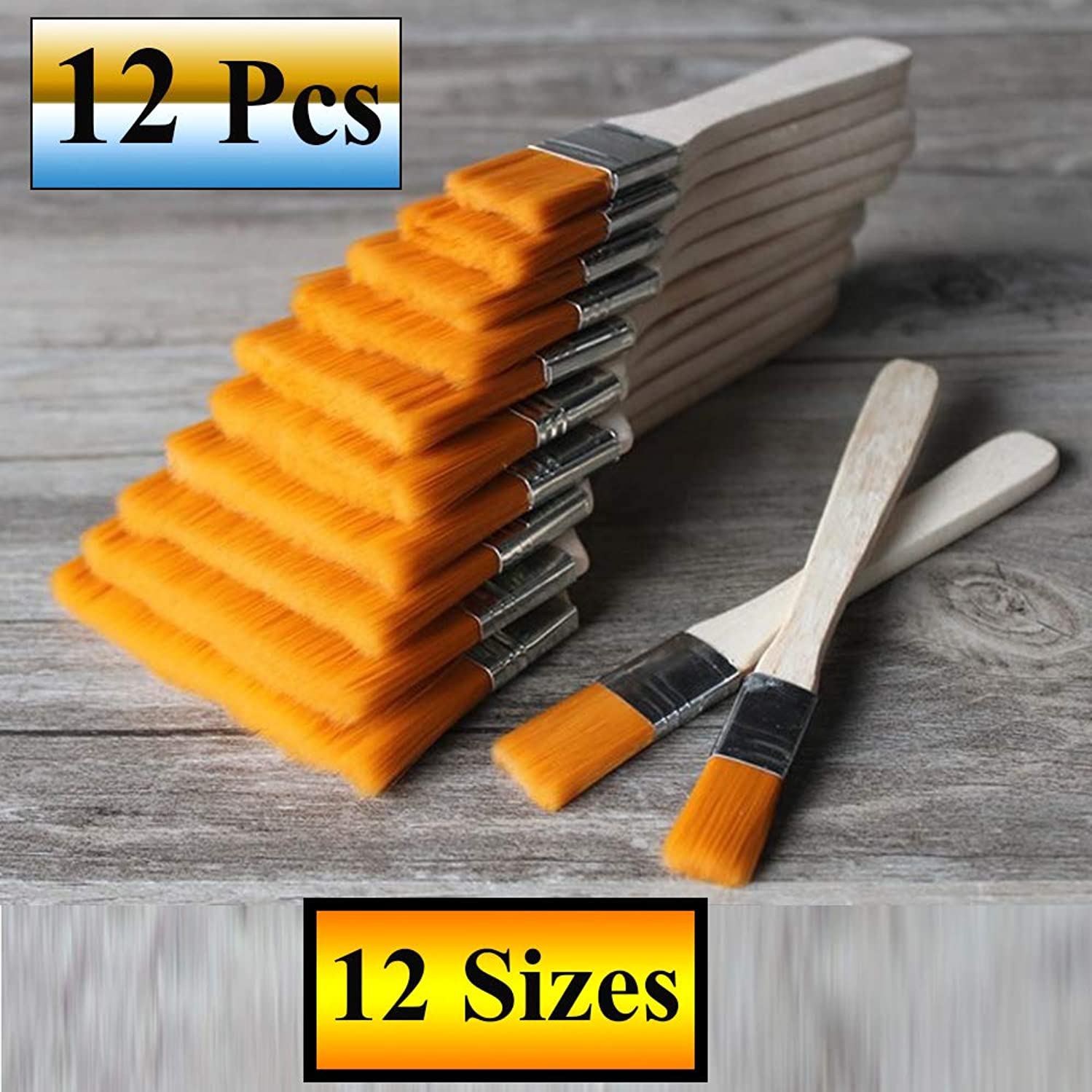 12 Pcs Paint Brushes Set for Wall Painting
