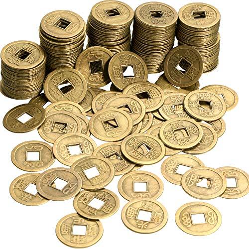 Boao Chinesische Feng Shui Münzen Glück Münzen I-Ching Münzen für Gesundheit und Reichtum (200, 0,8 Zoll)