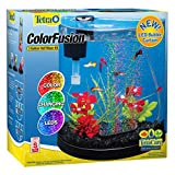 Tetra ColorFusion Starter aquarium Kit 3 Gallons, Half-Moon Shape, With Bubbler And Color-Changing...